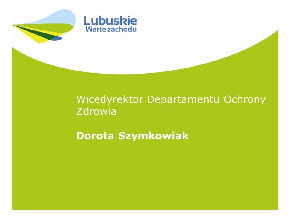 Wicedyrektor Departamentu Ochrony Zdrowia Dorota Szymkowiak