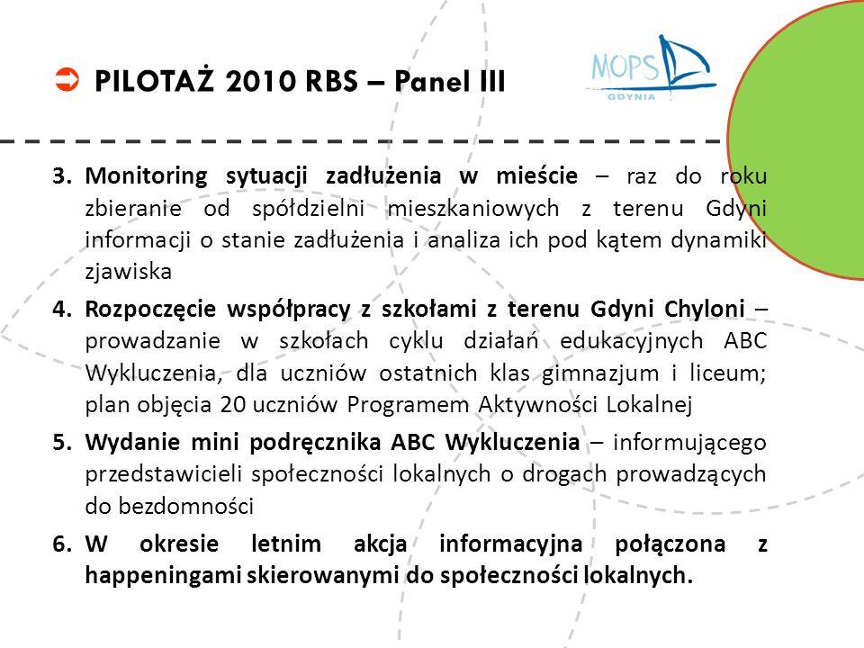 3.Monitoring sytuacji zadłużenia w mieście – raz do roku zbieranie od spółdzielni mieszkaniowych z terenu Gdyni informacji o stanie zadłużenia i anali
