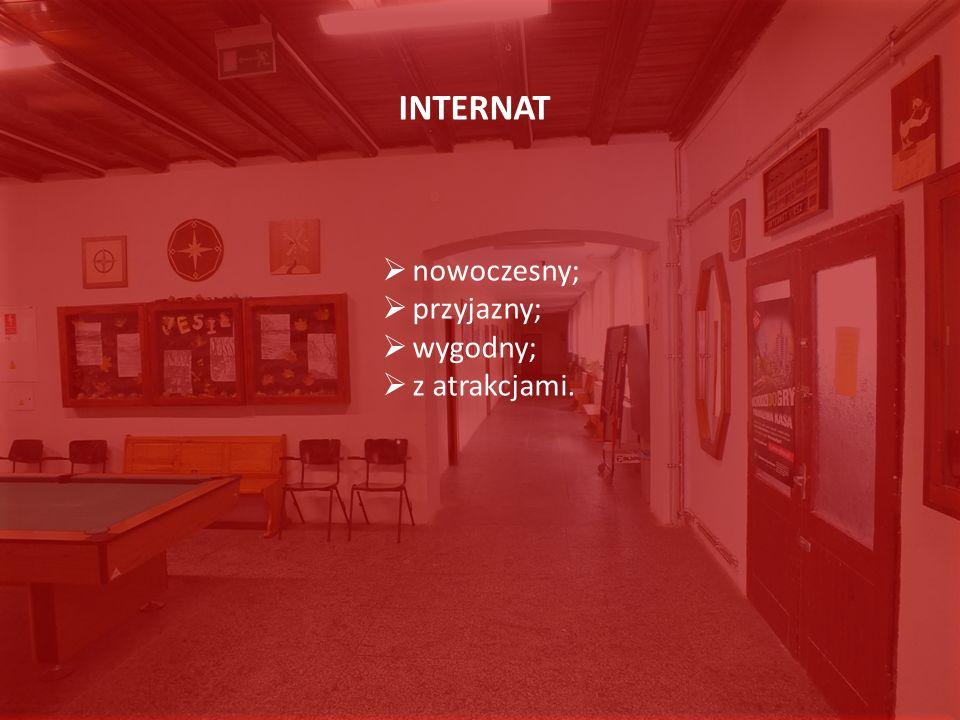 INTERNAT nowoczesny; przyjazny; wygodny; z atrakcjami. INTERNAT nowoczesny; przyjazny; wygodny; z atrakcjami.