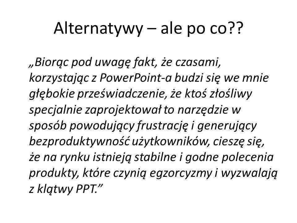 Funkcje dodatkowe Informacje w stopce(będą widoczne w prezentacji) i nagłówku(będą widoczne w materiałach informacyjnych) Niestandardowe pokazy slajdó