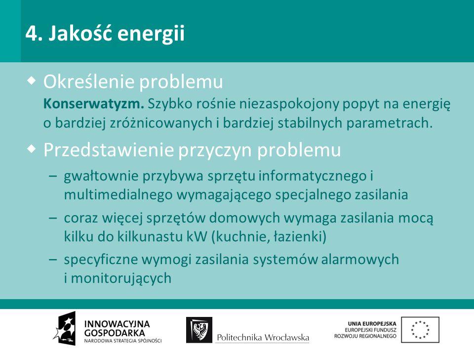 4. Jakość energii Określenie problemu Konserwatyzm.