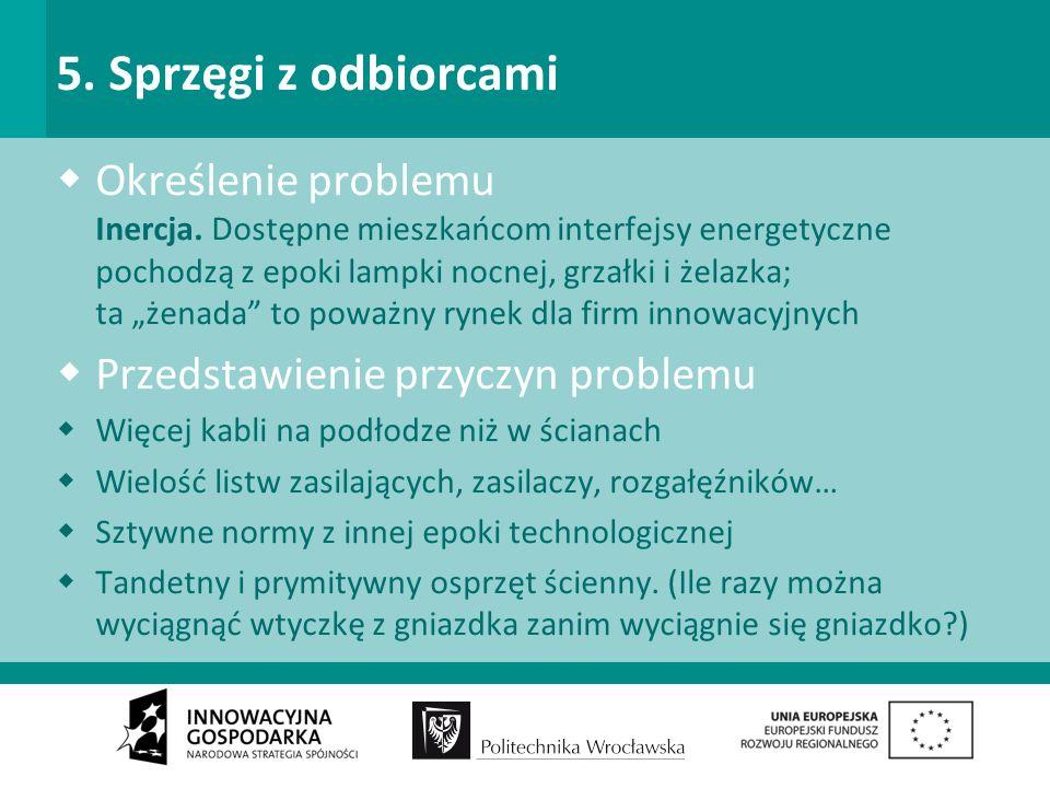 5. Sprzęgi z odbiorcami Określenie problemu Inercja.