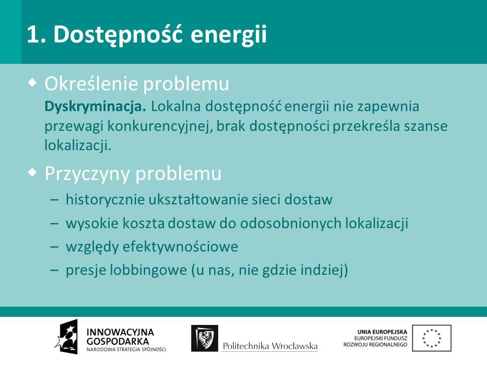 1. Dostępność energii Określenie problemu Dyskryminacja.