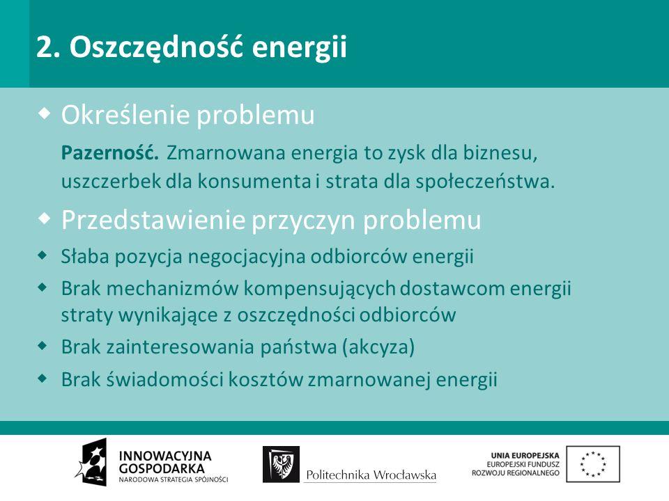 2. Oszczędność energii Określenie problemu Pazerność.
