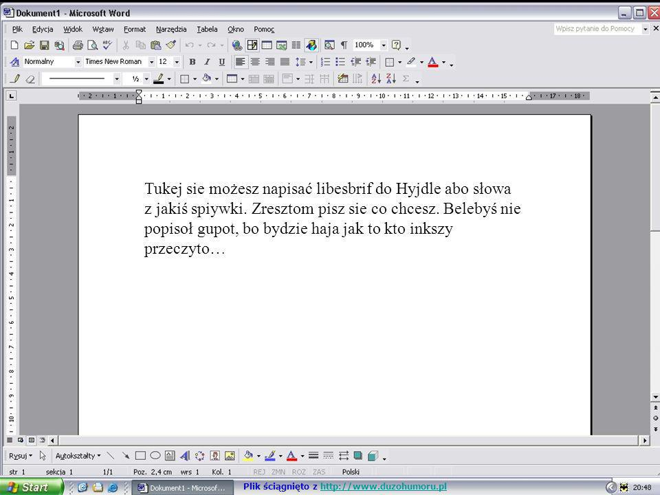 Tukej sie możesz napisać libesbrif do Hyjdle abo słowa z jakiś spiywki. Zresztom pisz sie co chcesz. Belebyś nie popisoł gupot, bo bydzie haja jak to