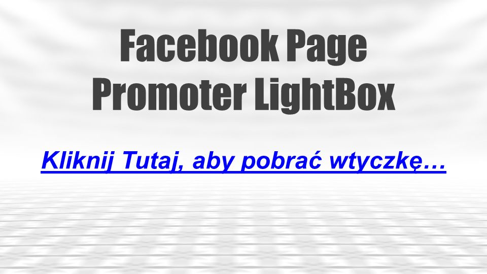 Facebook Tab Manager Kliknij Tutaj, aby pobrać wtyczkę…