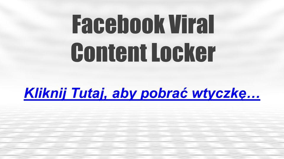 Facebook LikeBox Slider Kliknij Tutaj, aby pobrać wtyczkę…