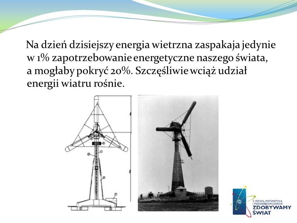 Na dzień dzisiejszy energia wietrzna zaspakaja jedynie w 1% zapotrzebowanie energetyczne naszego świata, a mogłaby pokryć 20%. Szczęśliwie wciąż udzia