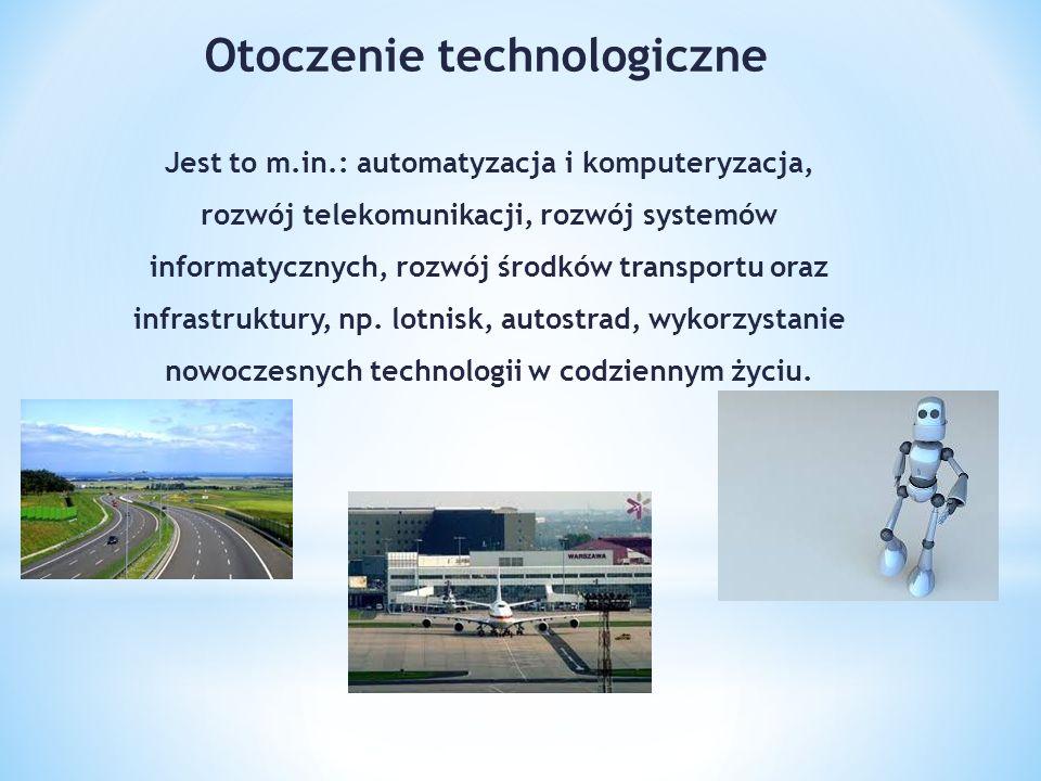 Jest to m.in.: automatyzacja i komputeryzacja, rozwój telekomunikacji, rozwój systemów informatycznych, rozwój środków transportu oraz infrastruktury, np.