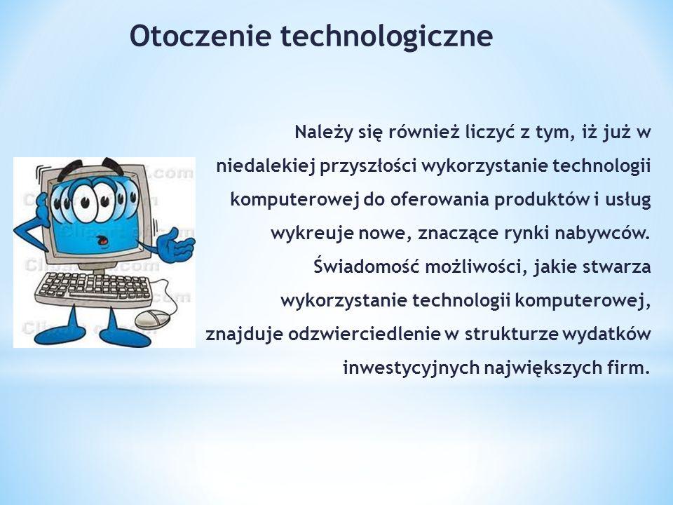 Należy się również liczyć z tym, iż już w niedalekiej przyszłości wykorzystanie technologii komputerowej do oferowania produktów i usług wykreuje nowe