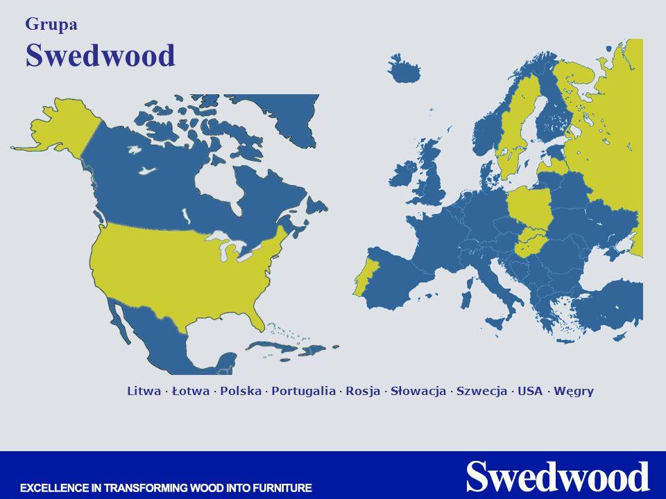 Grupa Swedwood Litwa · Łotwa · Polska · Portugalia · Rosja · Słowacja · Szwecja · USA · Węgry