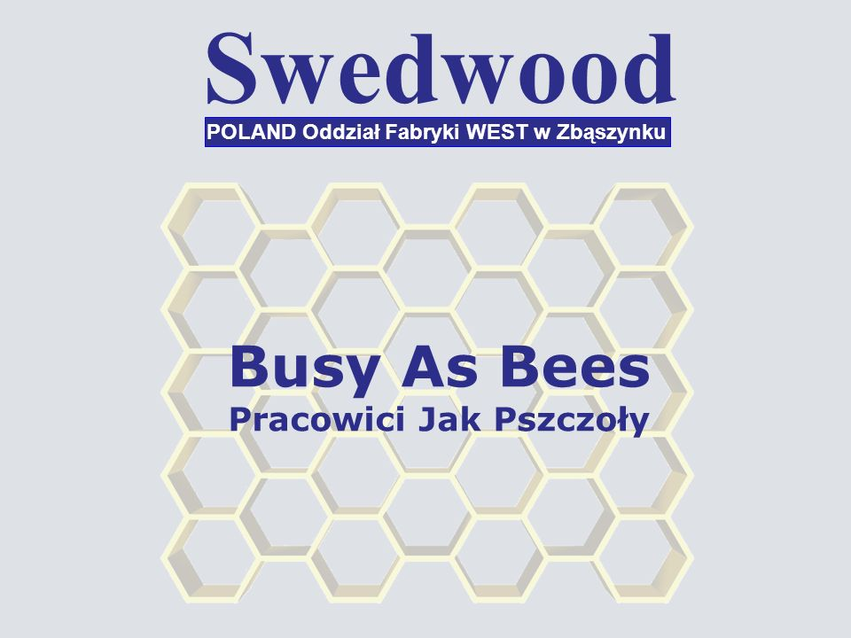 Swedwood POLAND Oddział Fabryki WEST w Zbąszynku Busy As Bees Pracowici Jak Pszczoły