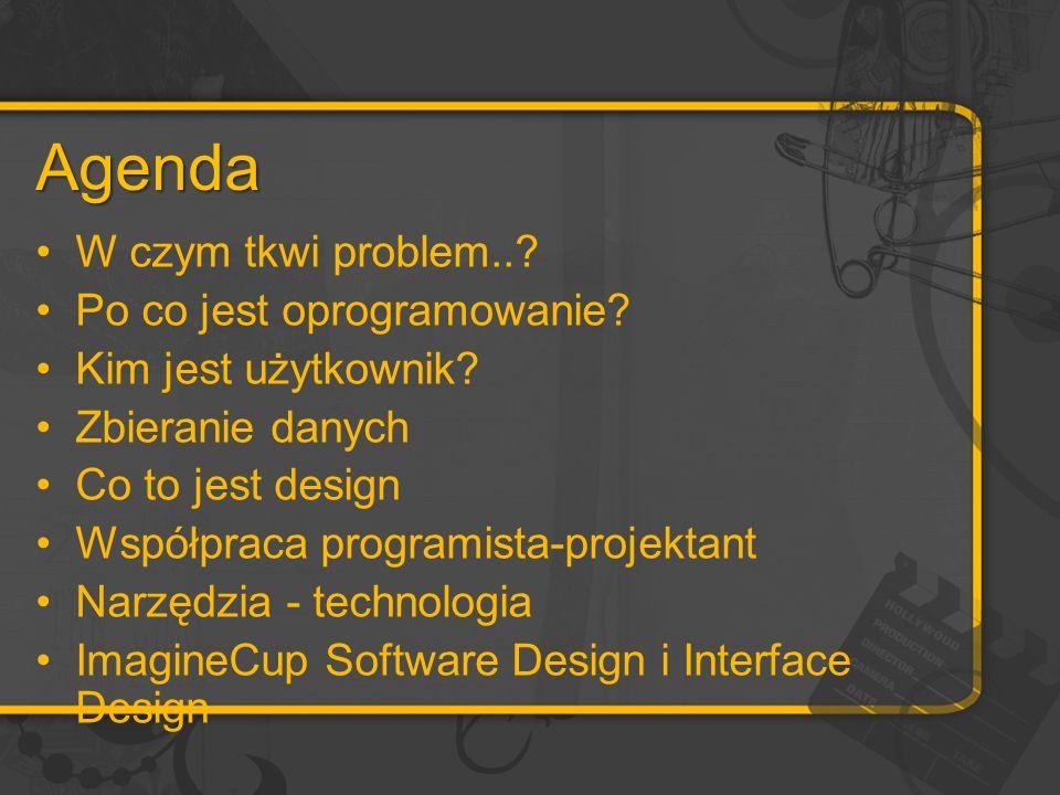 Agenda W czym tkwi problem... Po co jest oprogramowanie.