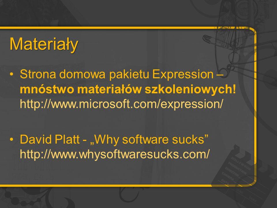 Materiały Strona domowa pakietu Expression – mnóstwo materiałów szkoleniowych.