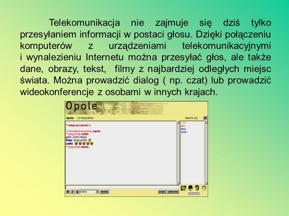 Technologia informacyjna to połączenie zastosowań informatyki z technikami telekomunikacji. Jest charakterystyczną cechą wszelkich działań współczesne