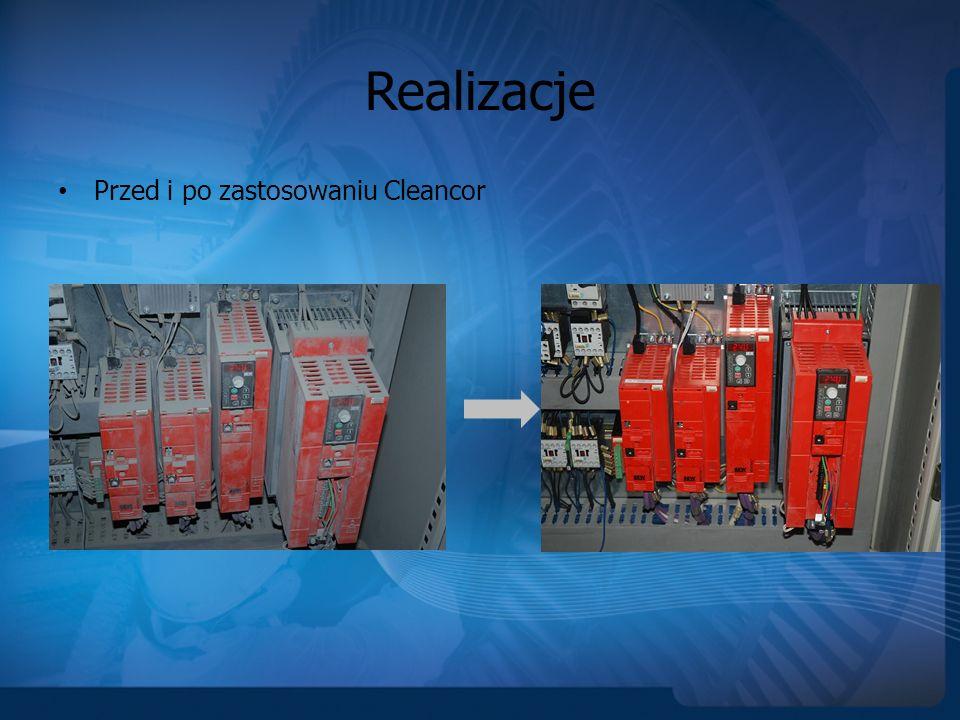 Realizacje Przed i po zastosowaniu Cleancor