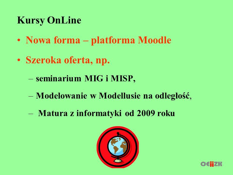 Kursy OnLine Nowa forma – platforma Moodle Szeroka oferta, np.