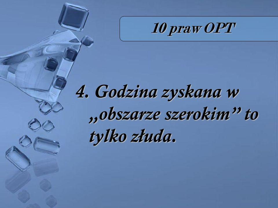 10 praw OPT 4. Godzina zyskana w obszarze szerokim to tylko złuda.