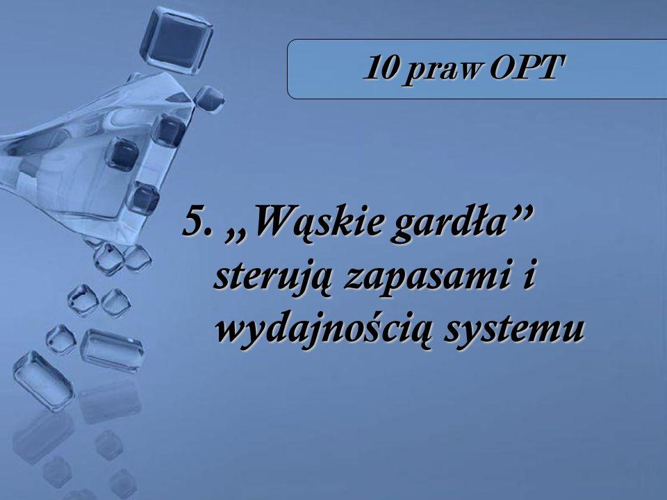 10 praw OPT 5. W ą skie gardła steruj ą zapasami i wydajno ś ci ą systemu