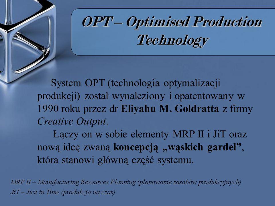 W ą skie gard ł o (bottleneck) kluczem do OPT Czym jest wąskie gardło.