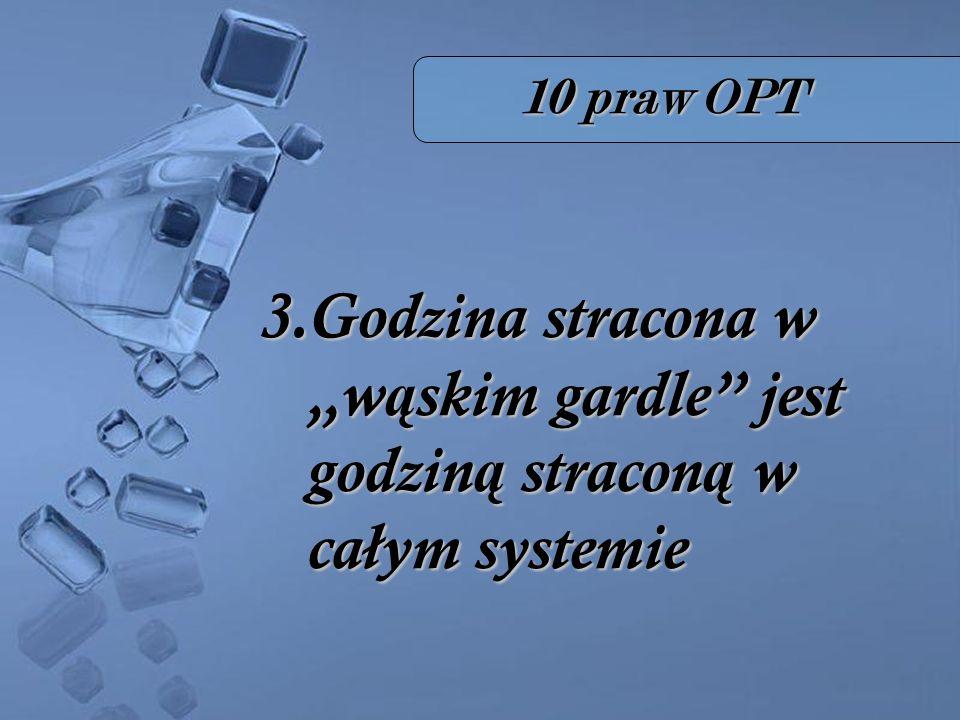 10 praw OPT 3.Godzina stracona w w ą skim gardle jest godzin ą stracon ą w całym systemie