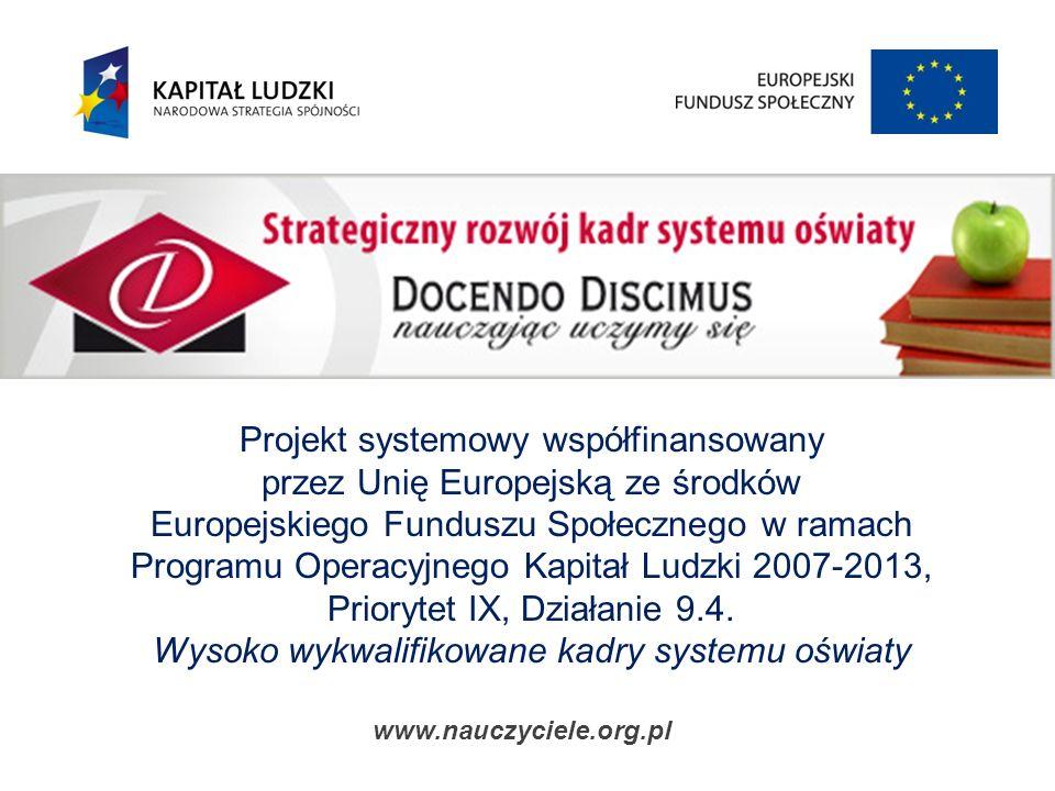 Szkoła jako instytucja i jej wpływ na kreowanie wzorców dobrych obyczajów w kształceniu Szczecin, 24.10.2008 r.