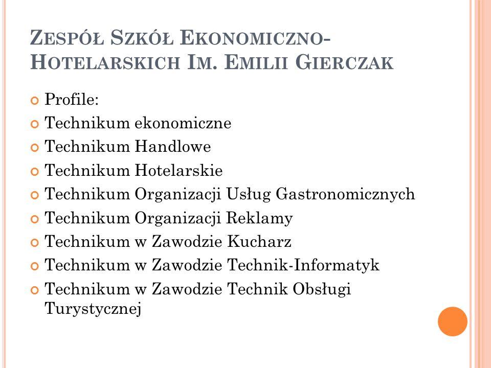 Z ESPÓŁ S ZKÓŁ G OSPODARKI Ż YWNOŚCIOWEJ I M.