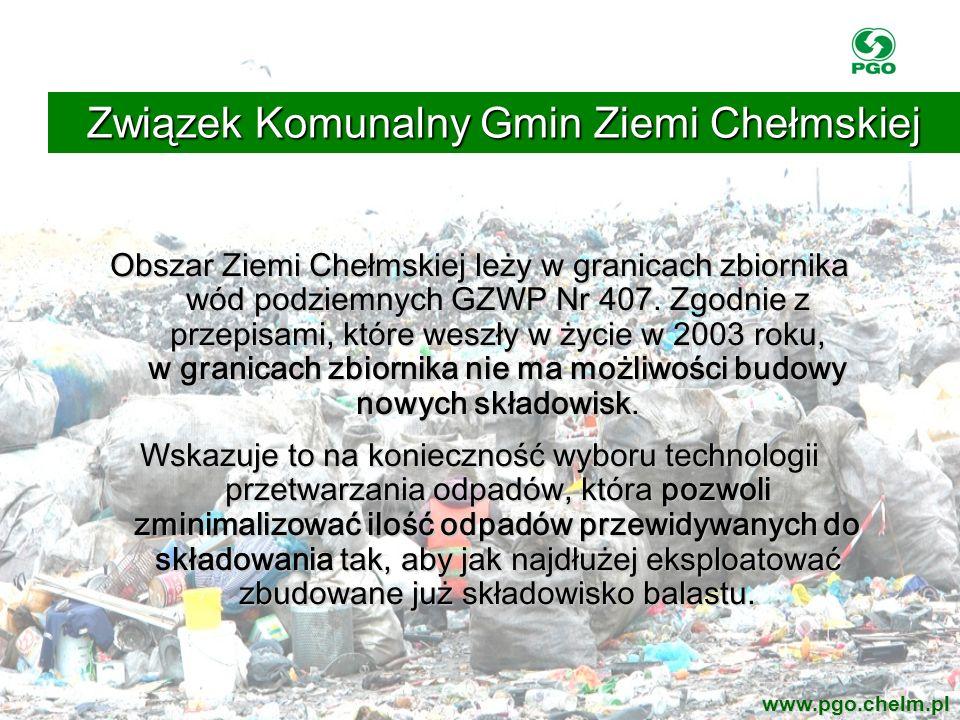 Obszar Ziemi Chełmskiej leży w granicach zbiornika wód podziemnych GZWP Nr 407. Zgodnie z przepisami, które weszły w życie w 2003 roku, w granicach zb