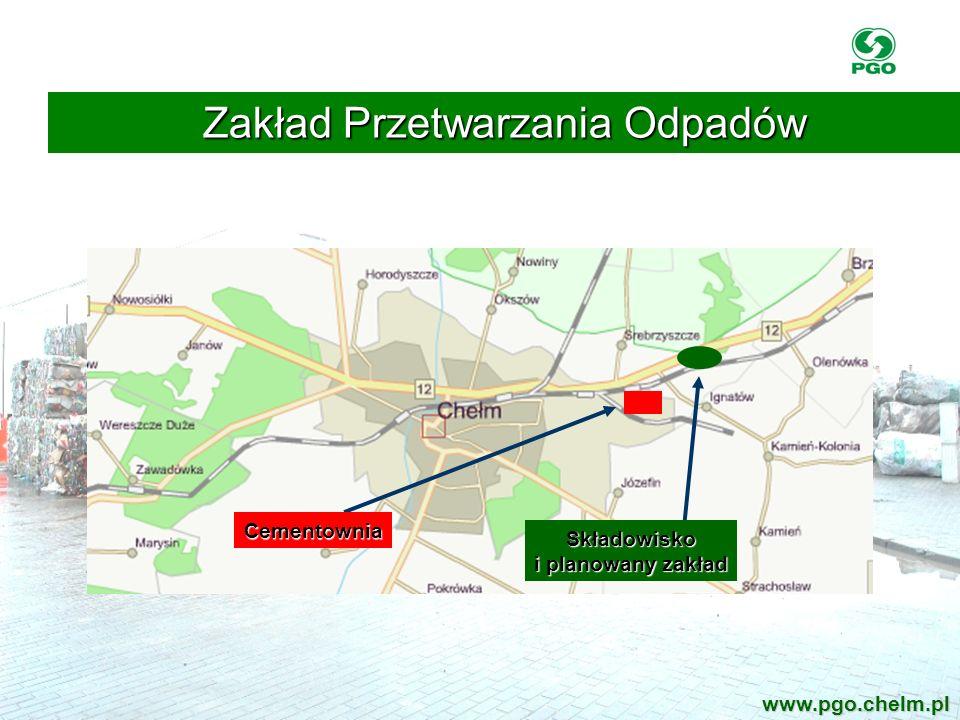 Cementownia Składowisko i planowany zakład Zakład Przetwarzania Odpadów www.pgo.chelm.pl