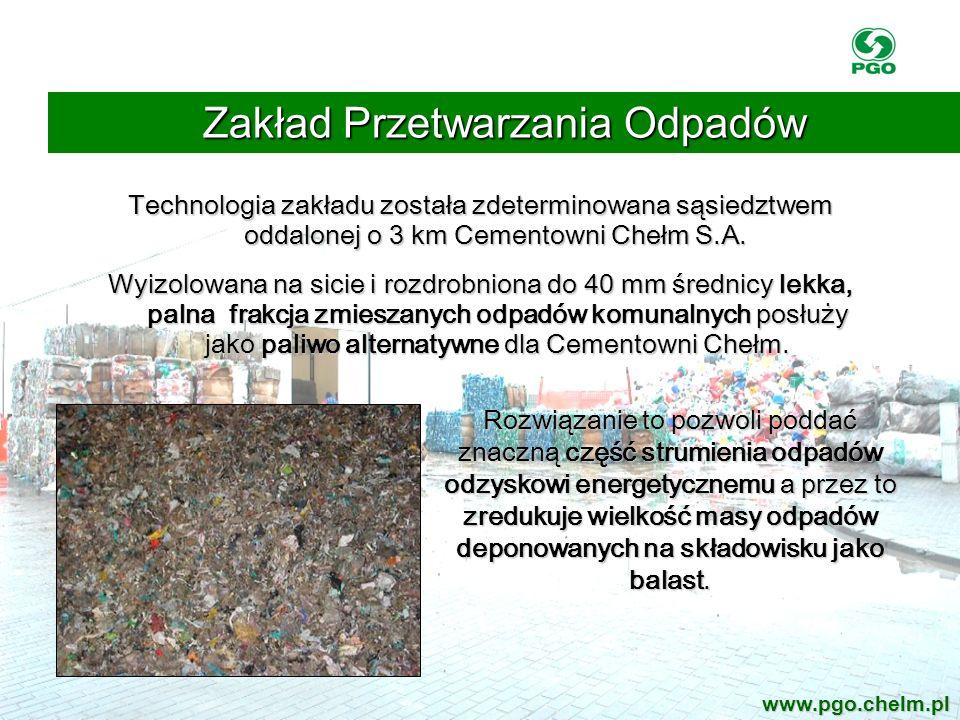 Technologia zakładu została zdeterminowana sąsiedztwem oddalonej o 3 km Cementowni Chełm S.A. Technologia zakładu została zdeterminowana sąsiedztwem o