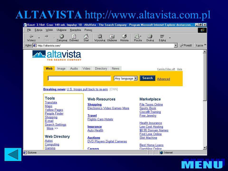 ALTAVISTA http://www.altavista.com.pl