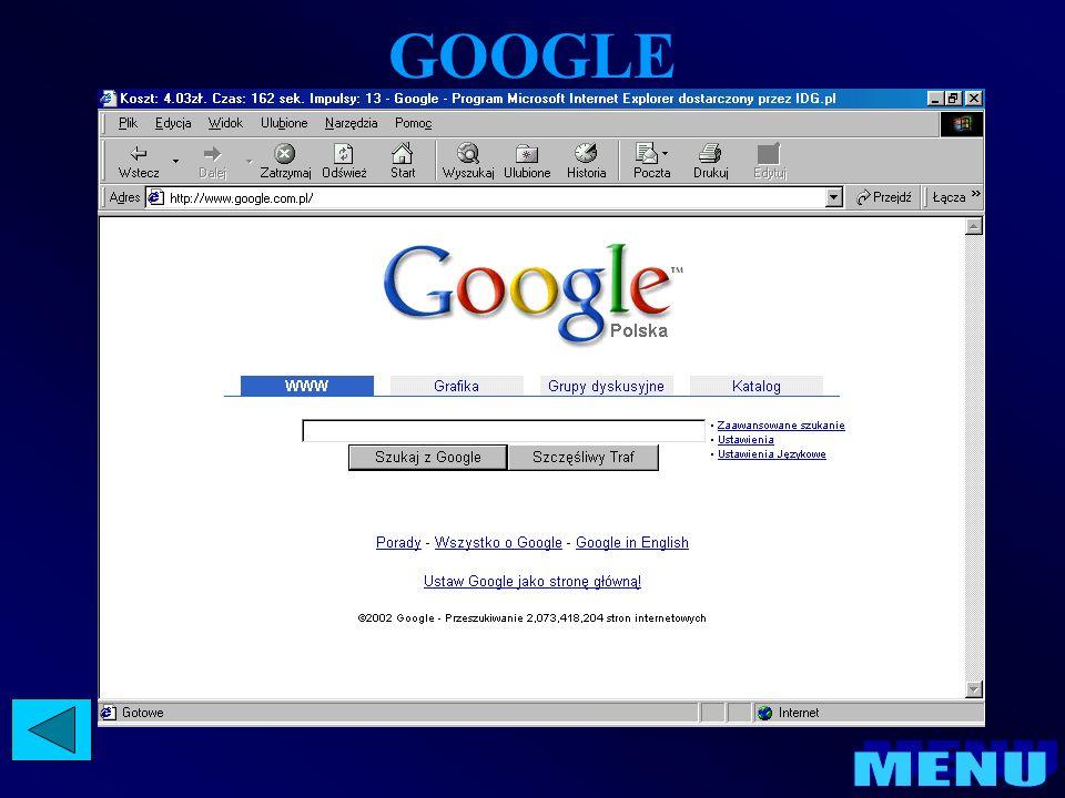 INTERNET EXPLORER Program Internet Explorer pozwala łatwo znajdować informacje w sieci World Wide Web, niezależnie od tego, czy użytkownik wyszukuje nowe informacje, czy przegląda ulubione witryny sieci Web.