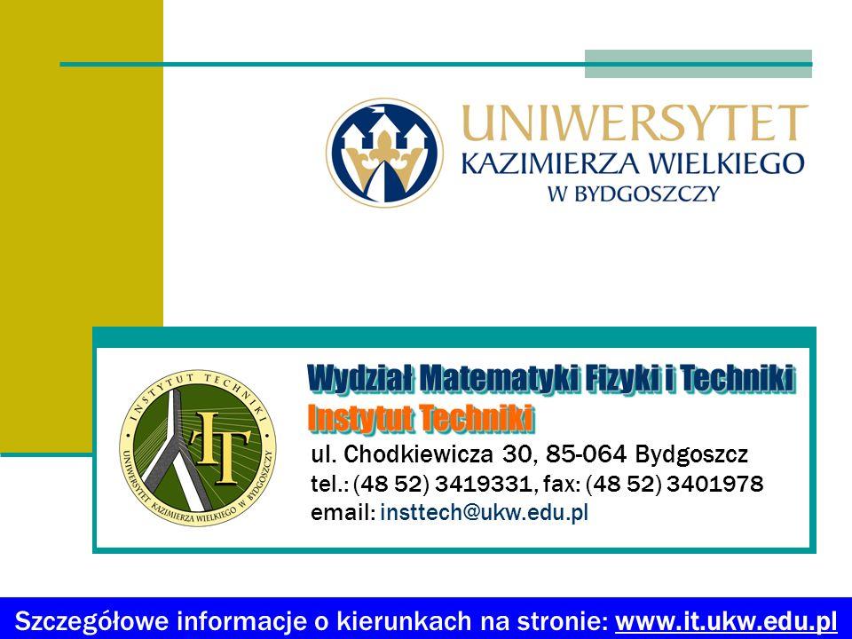 Oferujemy kierunki studiów Absolwent przygotowany jest do pracy w: małych, średnich i dużych przedsiębiorstwach przemysłowych, instytucjach edukacyjnych, instytucjach badawczo-rozwojowych.