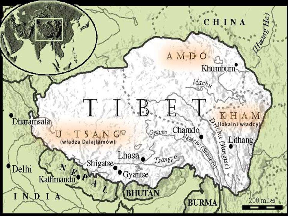 Lhasa leżąca na wysokości 3683 m n.p.m.