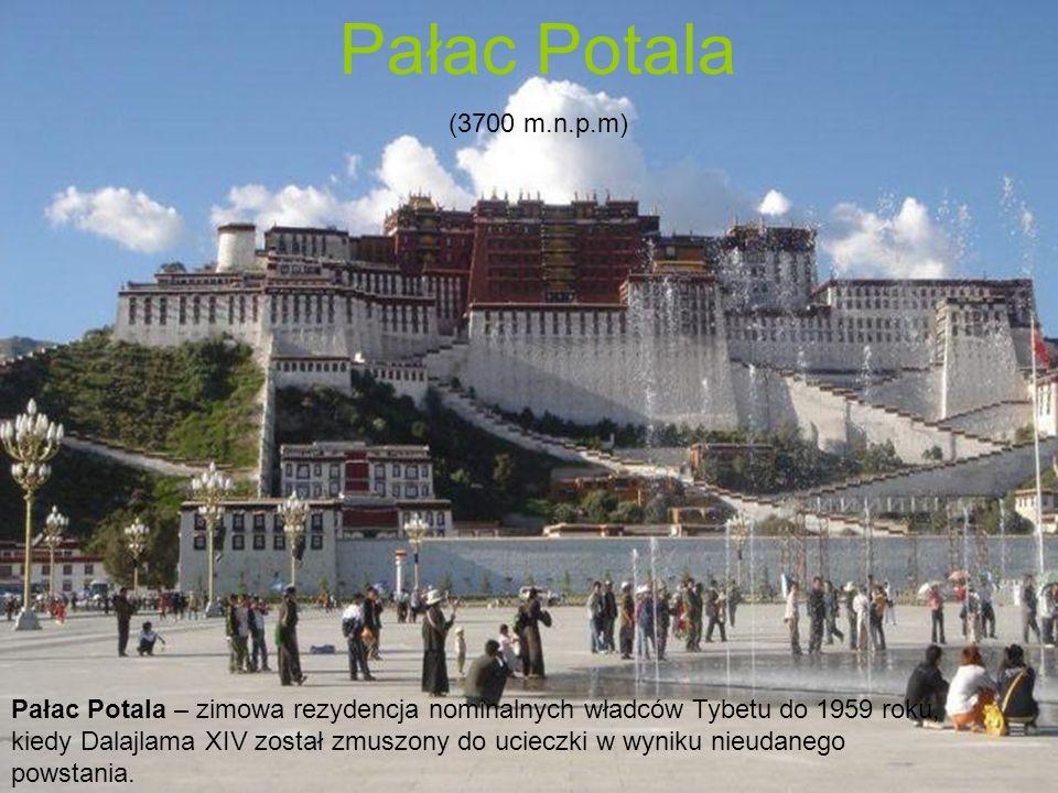 Pałac Potala – zimowa rezydencja nominalnych władców Tybetu do 1959 roku, kiedy Dalajlama XIV został zmuszony do ucieczki w wyniku nieudanego powstani