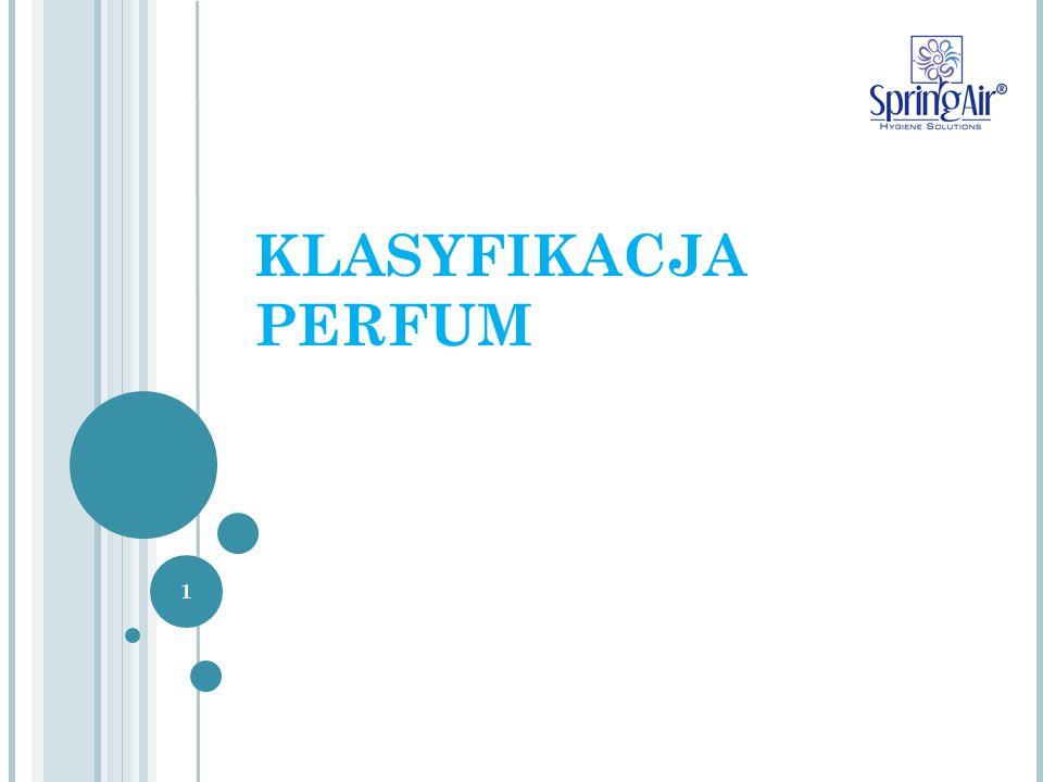 Opis charakterystyki zapachu Perfumy są opisywane za pomocą muzycznej metafory, która na podstawie trzech zestawów nut tworzy harmoniczny, zapachowy akord.