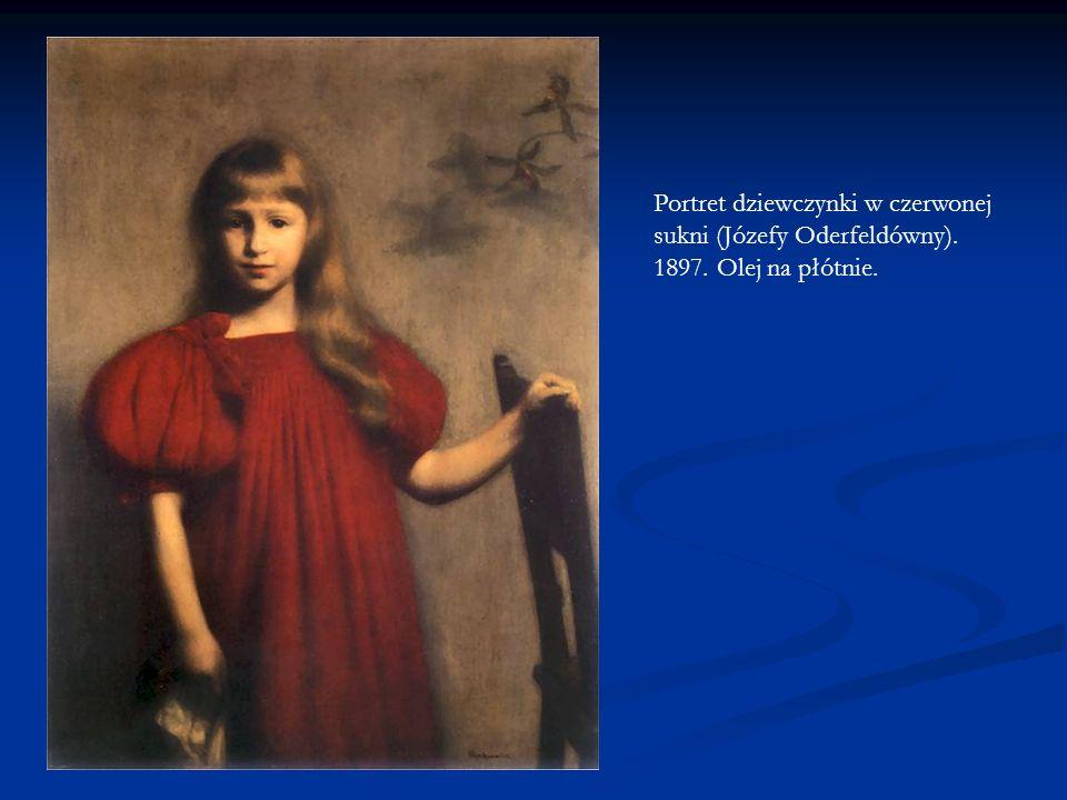 Portret dziewczynki w czerwonej sukni (Józefy Oderfeldówny). 1897. Olej na płótnie.