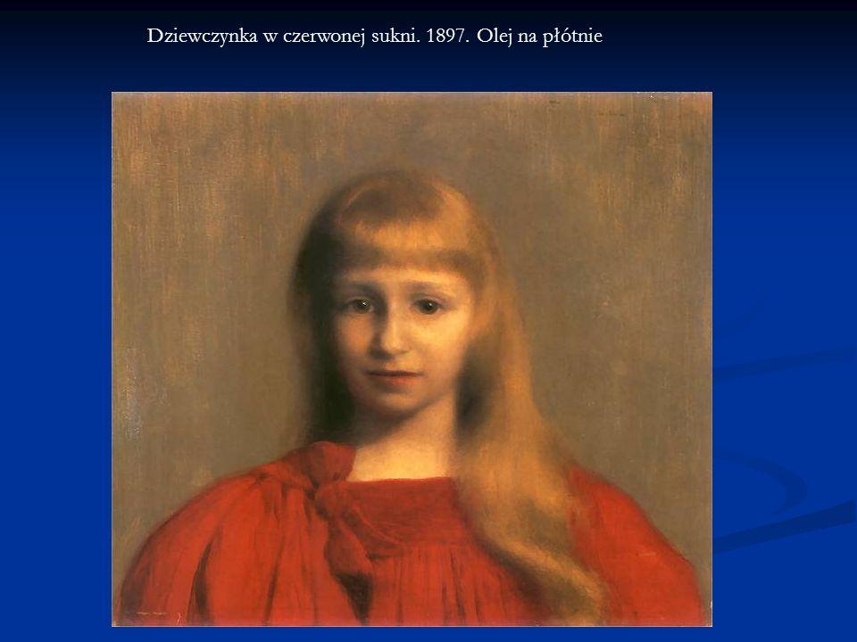 Dziewczynka w czerwonej sukni. 1897. Olej na płótnie