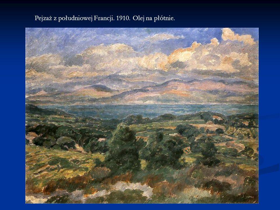 Pejzaż z południowej Francji. 1910. Olej na płótnie.