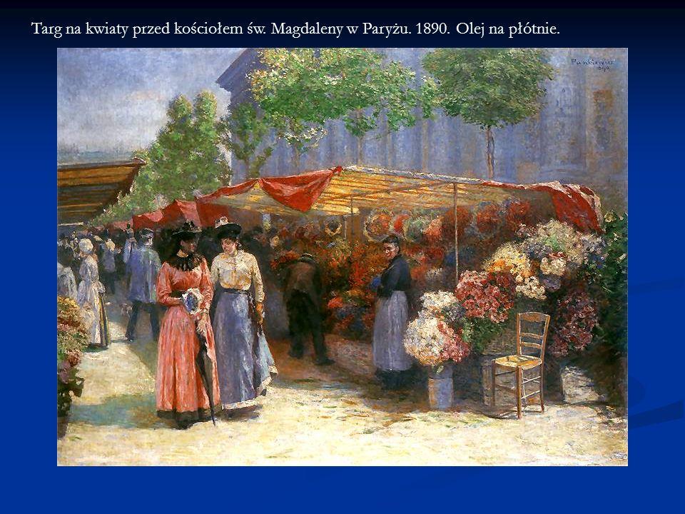 Targ na kwiaty przed kościołem św. Magdaleny w Paryżu. 1890. Olej na płótnie.