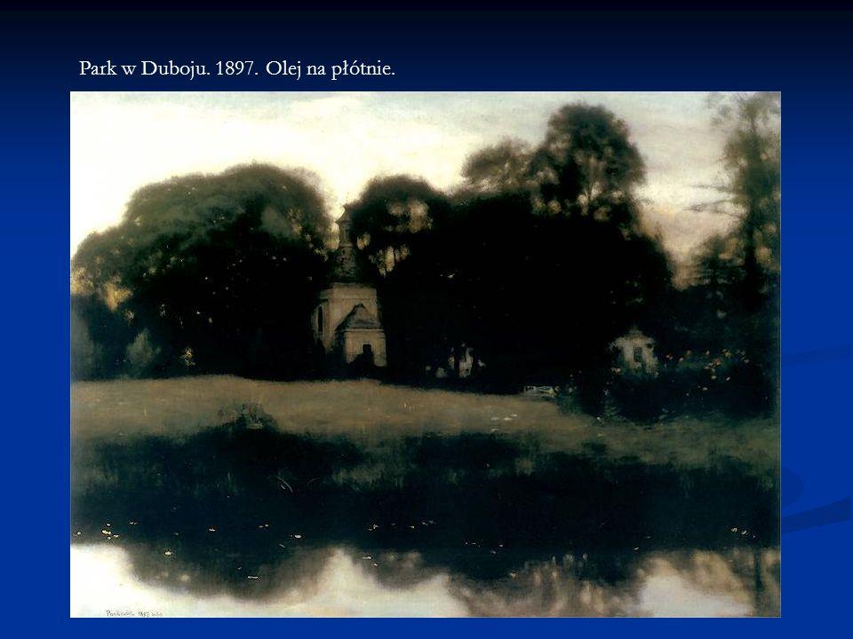Park w Duboju. 1897. Olej na płótnie.