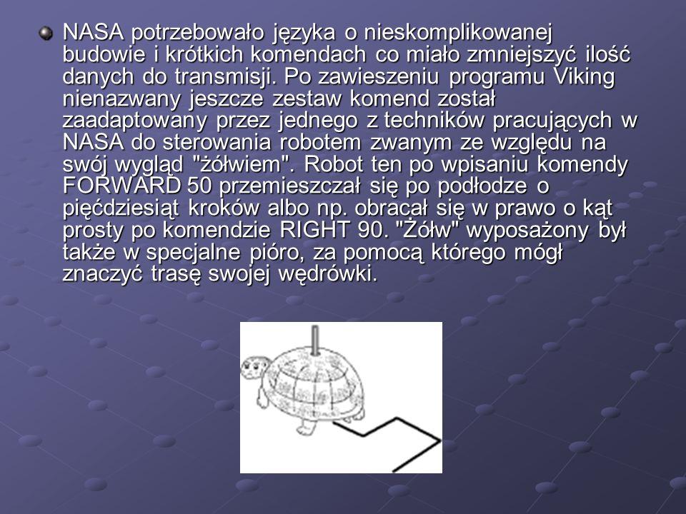 NASA potrzebowało języka o nieskomplikowanej budowie i krótkich komendach co miało zmniejszyć ilość danych do transmisji. Po zawieszeniu programu Viki