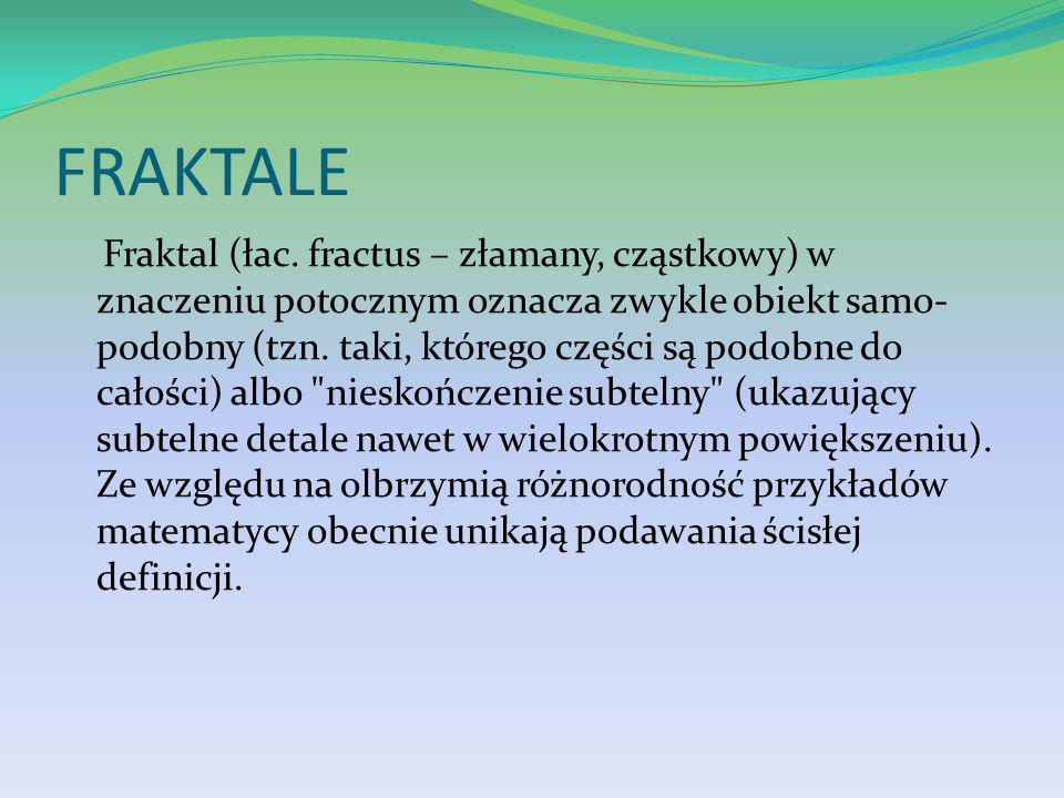 FRAKTALE Fraktal (łac.