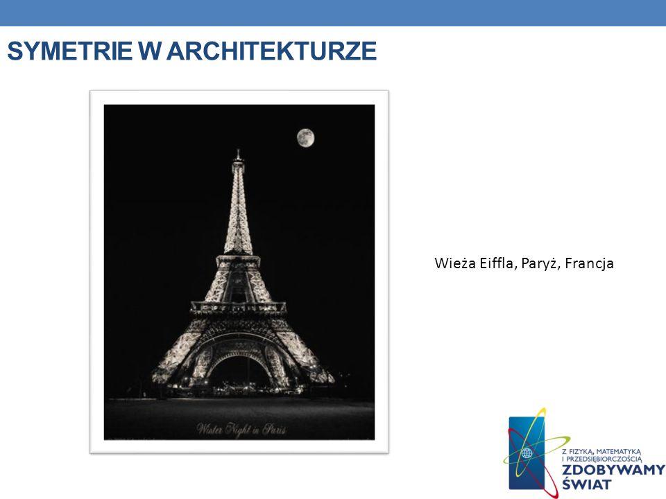 SYMETRIE W ARCHITEKTURZE Wieża Eiffla, Paryż, Francja