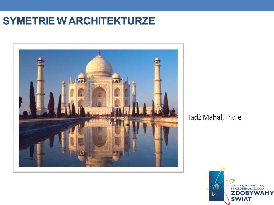 SYMETRIE W ARCHITEKTURZE Tadż Mahal, Indie
