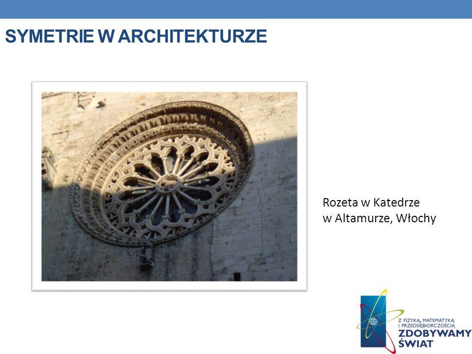 SYMETRIE W ARCHITEKTURZE Rozeta w Katedrze w Altamurze, Włochy