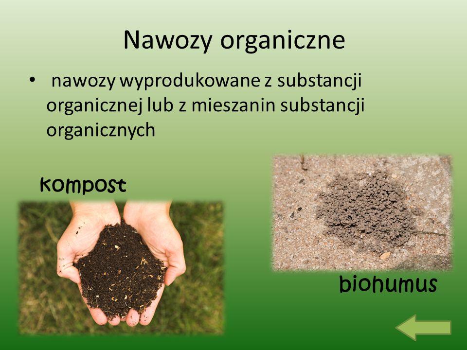 Nawozy organiczne nawozy wyprodukowane z substancji organicznej lub z mieszanin substancji organicznych biohumus kompost