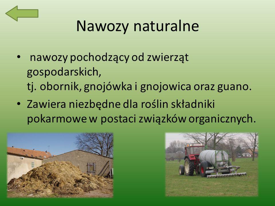 Nawozy naturalne nawozy pochodzący od zwierząt gospodarskich, tj.