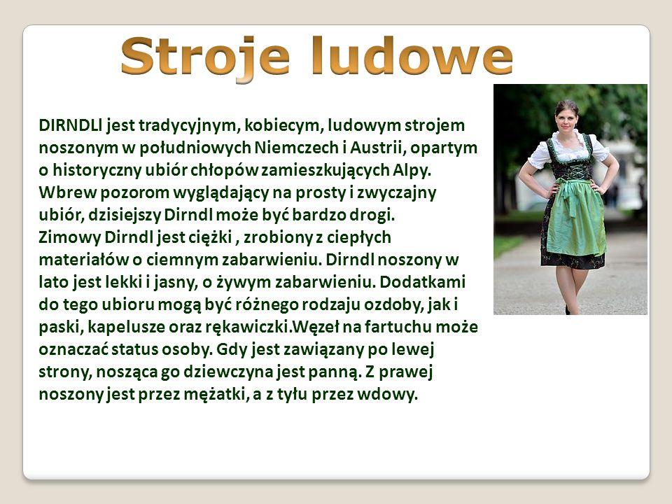 DIRNDLl jest tradycyjnym, kobiecym, ludowym strojem noszonym w południowych Niemczech i Austrii, opartym o historyczny ubiór chłopów zamieszkujących A