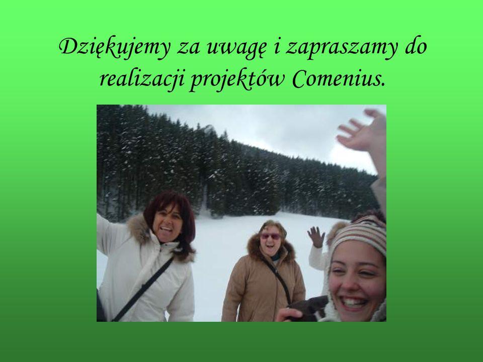 Dziękujemy za uwagę i zapraszamy do realizacji projektów Comenius.